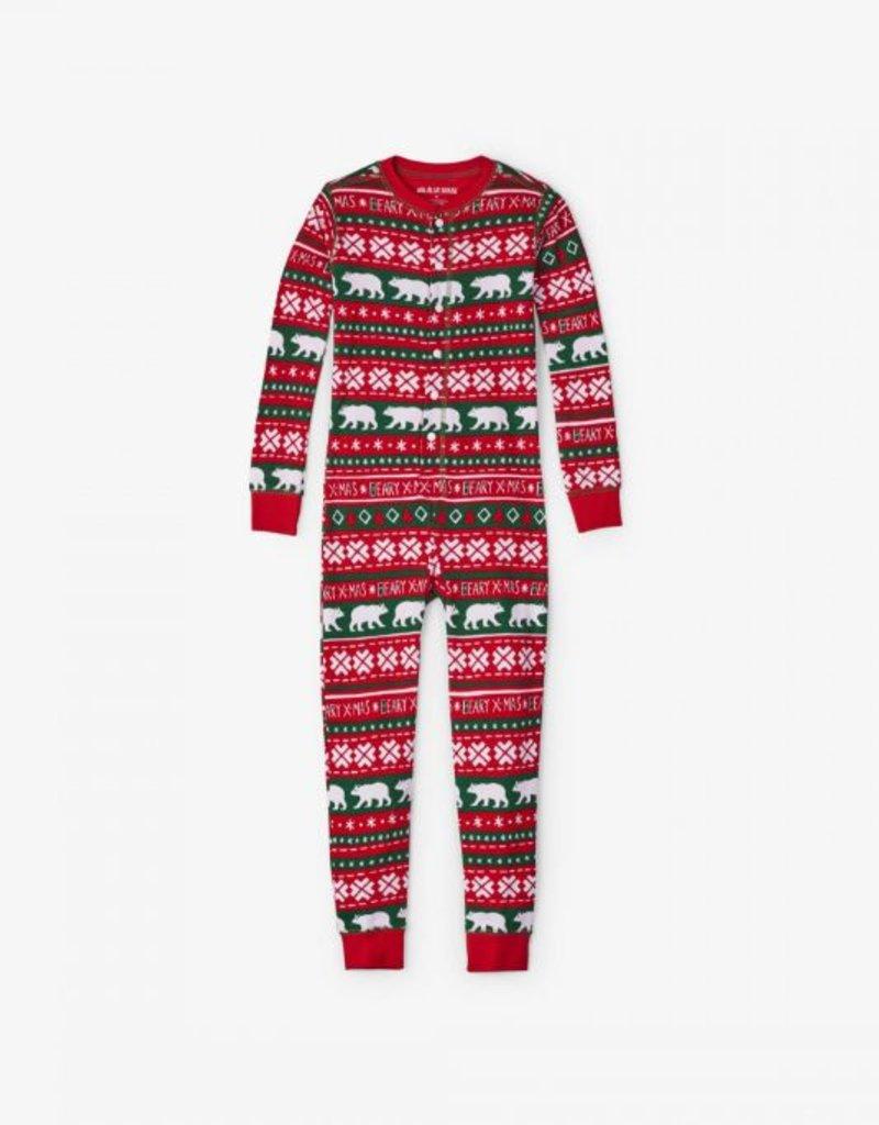 Hatley Kids Union Suit - Beary X-Mas