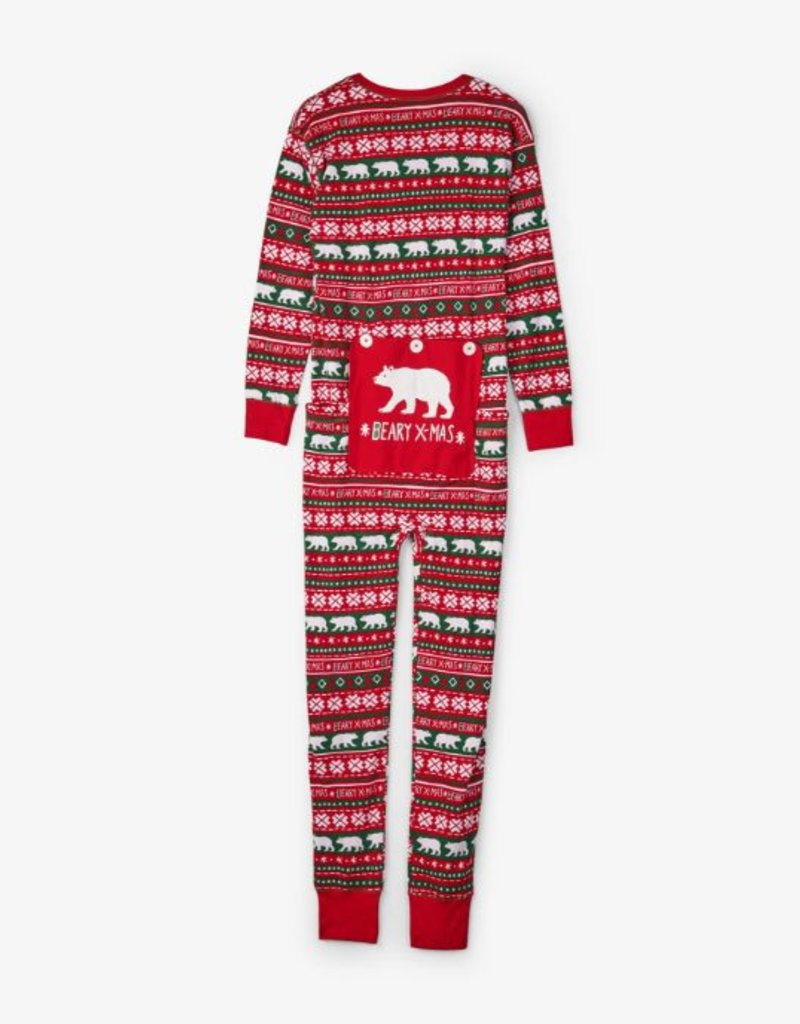 Hatley Adult Union Suits - Beary X-Mas
