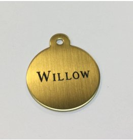 Engraved Small Brass Blanket Tag