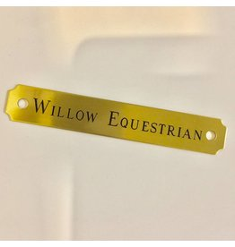 Engraved Brass Square Halter Plate