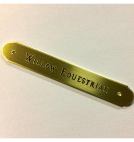 Engraved Brass Round Saddle Plate