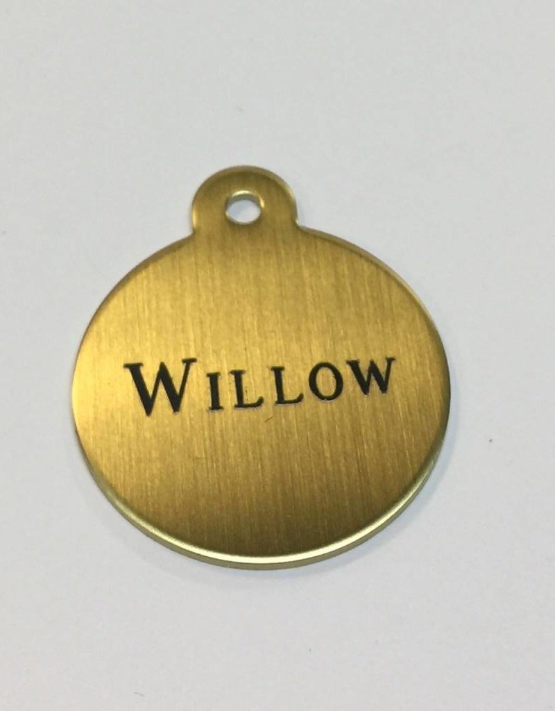 Engraved Large Brass Blanket Tag