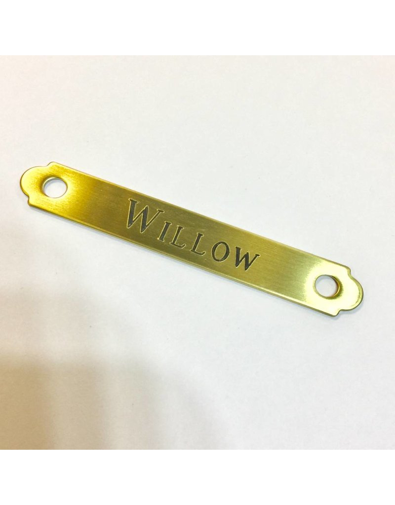 Engraved Brass Round Bridle Plate