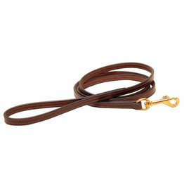 "Tory Tory Stitched English Leather Dog Leash 1/2"" x 5'"