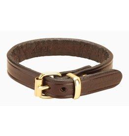 Tory Tory English Leather Bracelet Havana/Brass