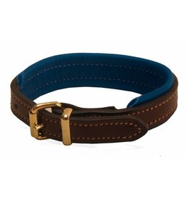 Tory Padded Leather Bracelet Havana/Navy with Nameplate