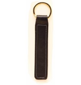 Tory Black Leather Key Fob with Nameplate