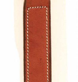 Tory Oak Leather Key Fob with Nameplate