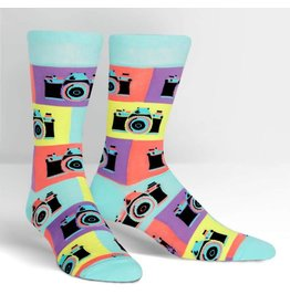 Sock it to Me Mens Sock it to Me Crew - Say Cheese!
