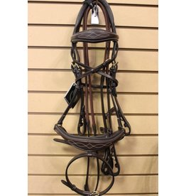 Royal Royal Anatomic Bridle w Flash & Rubber Reins