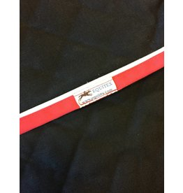 Equitex Trunk Cover Black w Red Trim/White Pipe