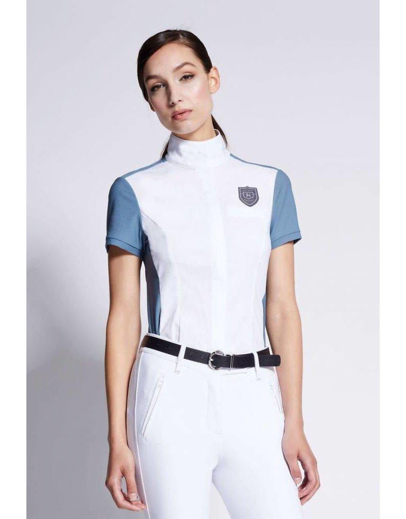 Asmar Orion Short Sleeve Show Shirt Steel Blue