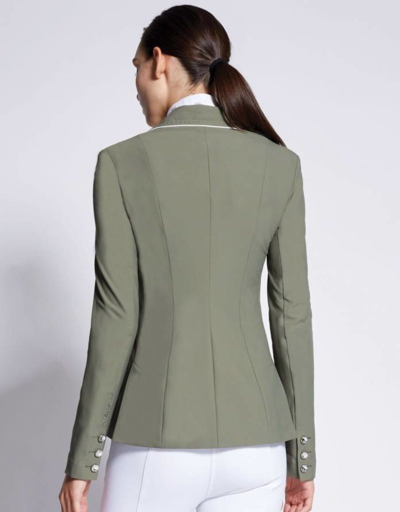 Asmar London Show Jacket Olive/White