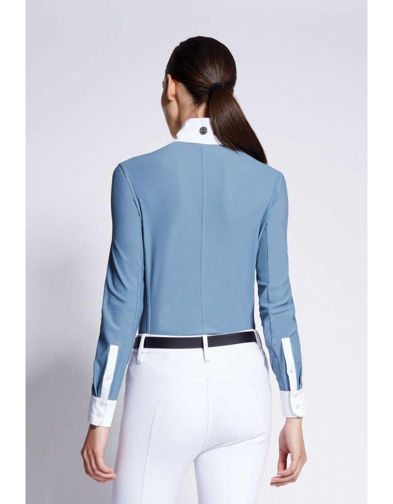 Asmar Roux Mesh Show Shirt Steel Blue