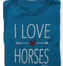 Stirrups Stirrups Girls 'I Love Horses' Tee