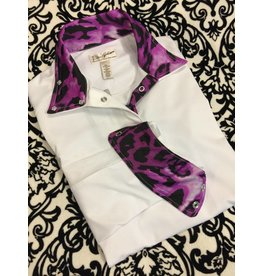 Tailored Sportsman Tailored Sportsman Icefil Show Shirt Purple Leopard