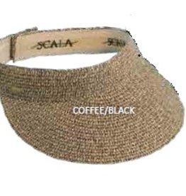 Scala Scala Paper Braid Visor Coffee/Black