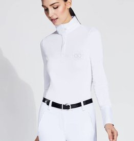 Asmar Asmar Lia 1/4 Zip Technical Show Shirt White