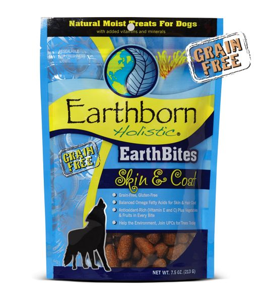 Earthborn EarthBites Skin & Coat Dog Treats 7.5oz