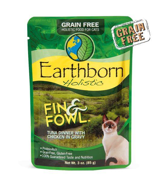 Earthborn Earthborn Fin & Fowl Wet Cat Food Pouch 3oz