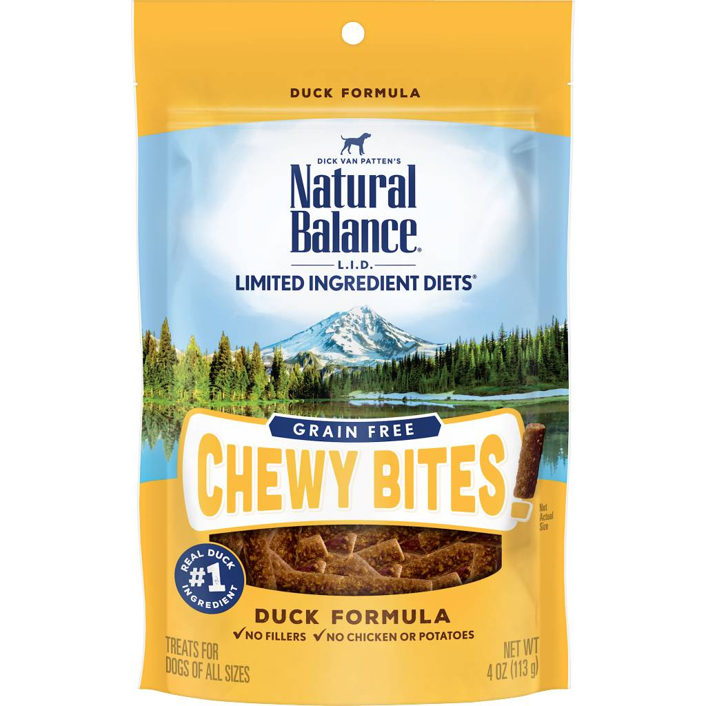 Natural Balance Limited Ingredient Chewy Bites Duck Dog Treats 4oz