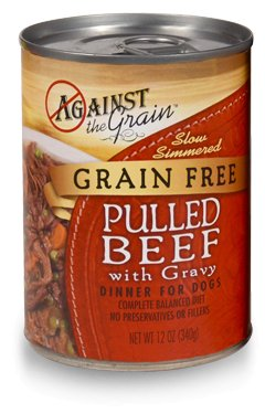 Against the Grain Against The Grain Pulled Beef Wet Dog Food 12oz