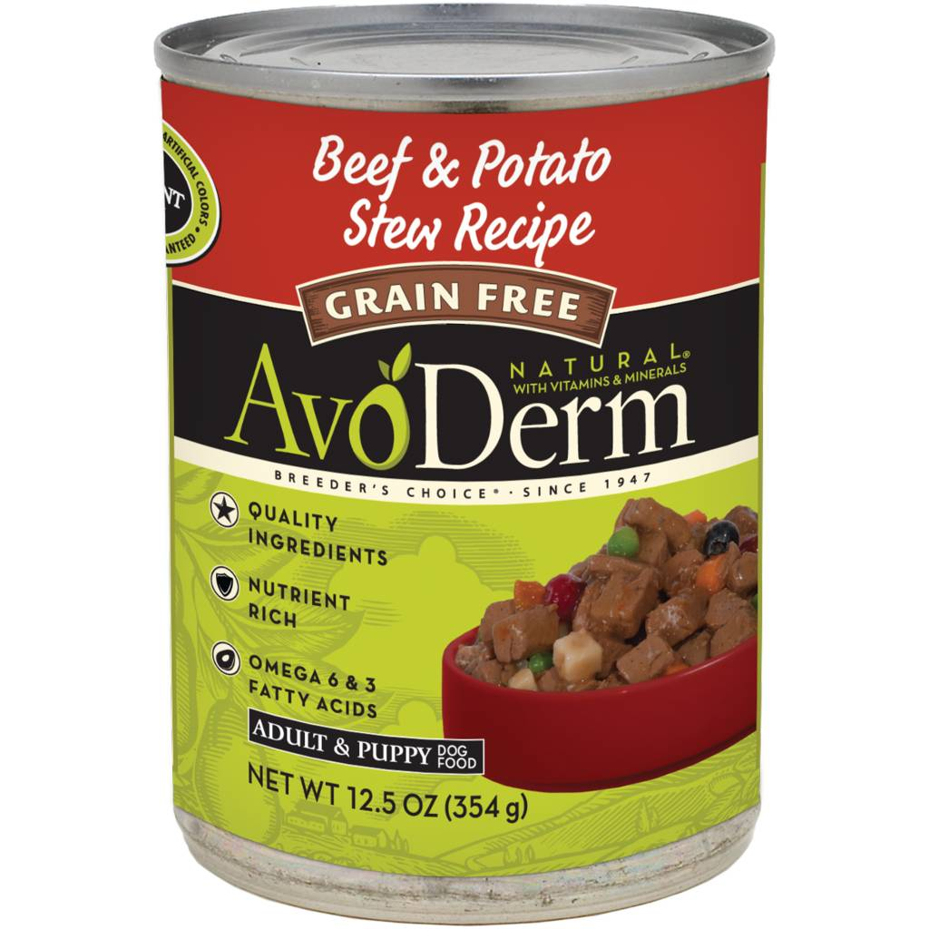 AvoDerm AvoDerm Beef & Potato Stew Wet Dog Food 12.5oz