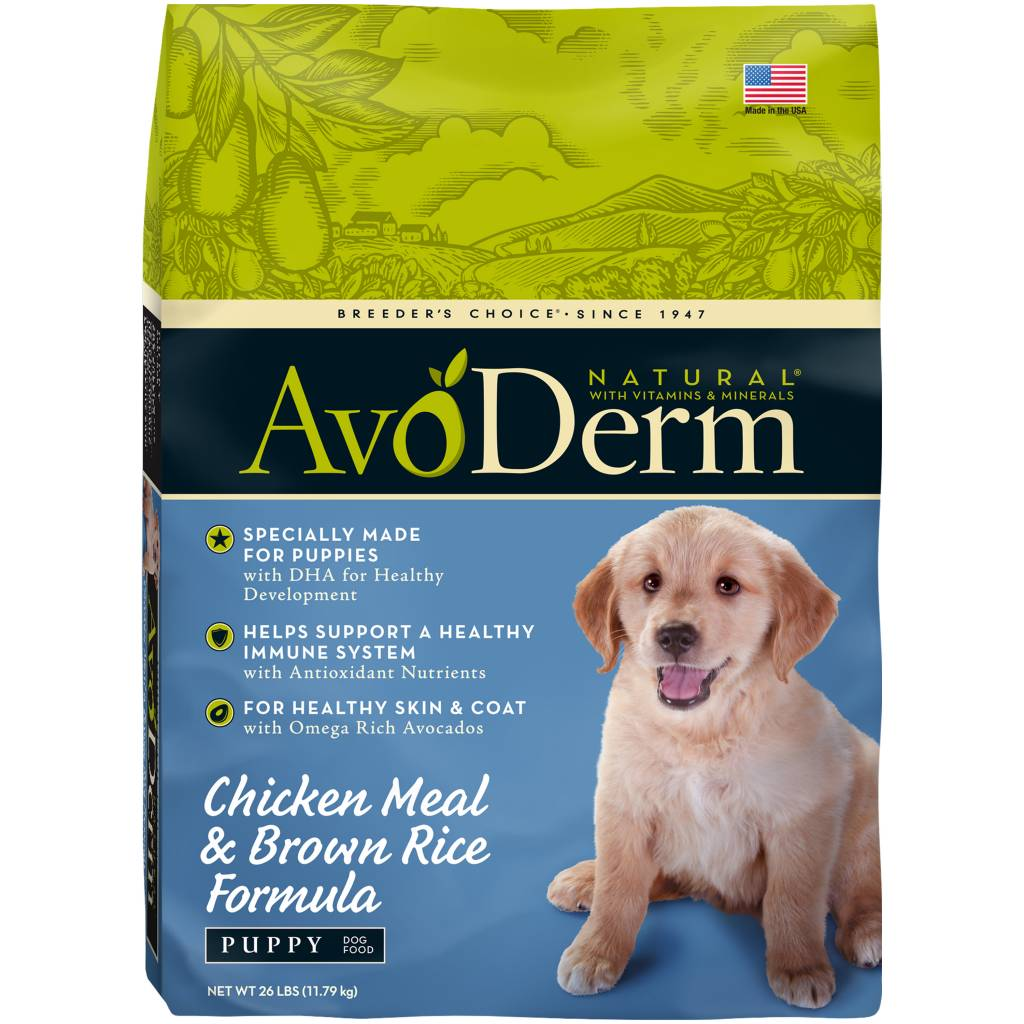 AvoDerm AvoDerm Large Breed Puppy Chicken Meal & Brown Rice Dry Dog Food 26#