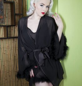 Playful Promises Bettie Page feather robe