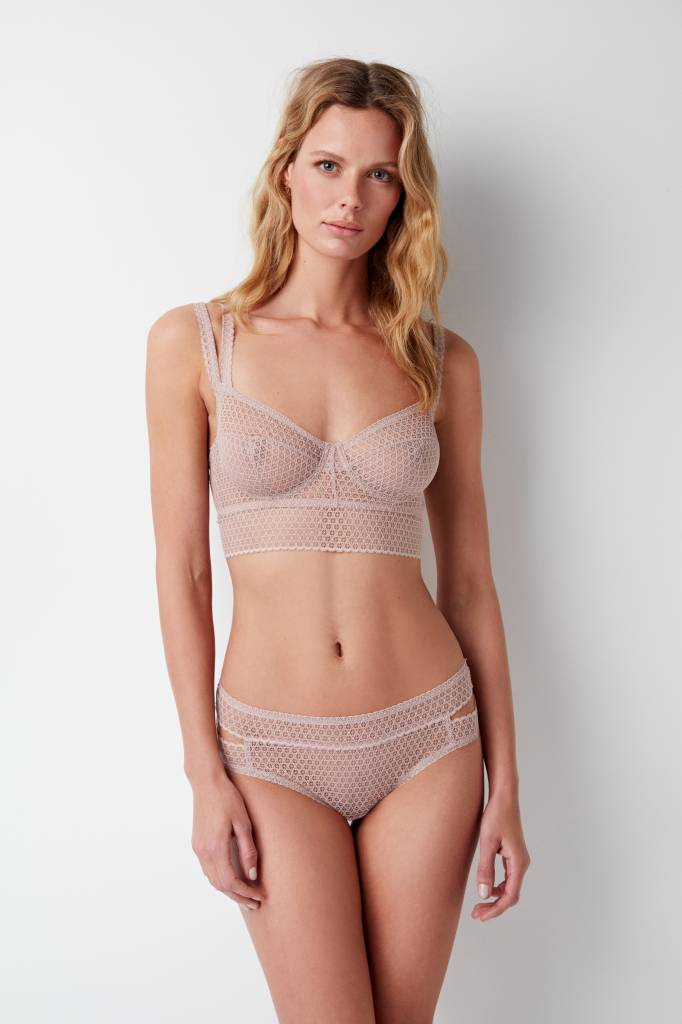 Else Pointelle full cup longline