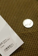 Dunroven House, Inc. Fabric, Brown Mini Check