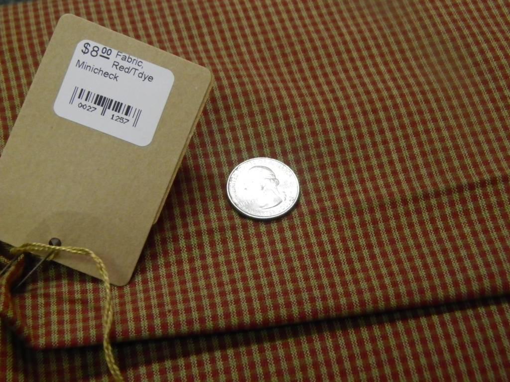 Fabric, Red/Tdye Minicheck