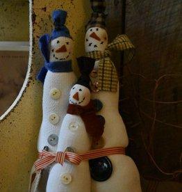 Homemade Snowkin Family
