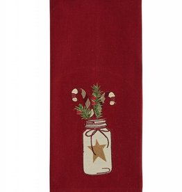 Park Designs Mason Jar Candy Cane Dishtowel