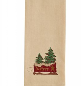 Park Designs Believe Sled Dishtowel