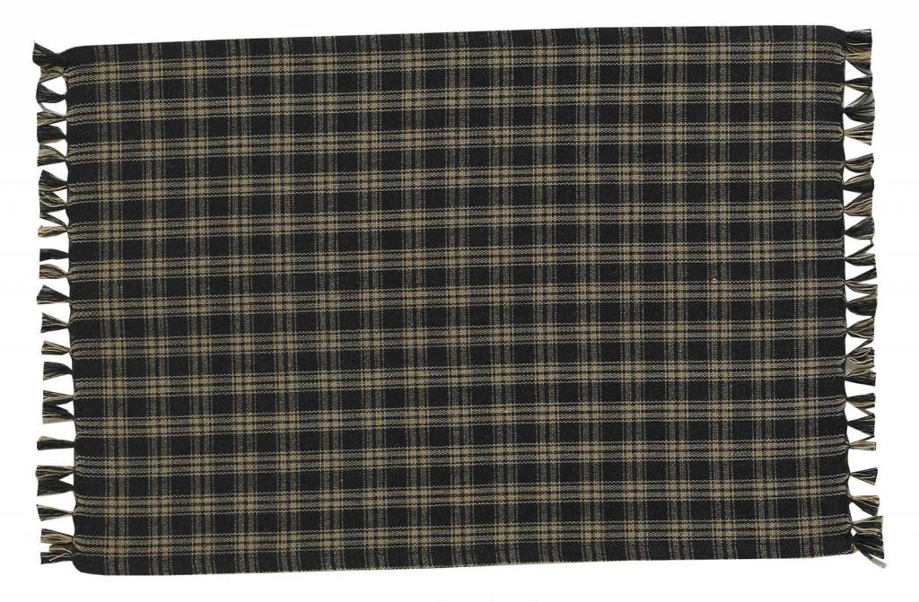 Park Designs Placemat, Sturbridge Black