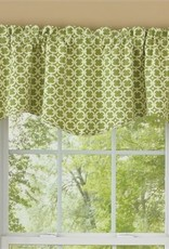Park Designs Cameron Wave Lined Valance, Green