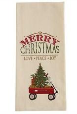 Park Designs Merry Christmas Wagon Dishtowel