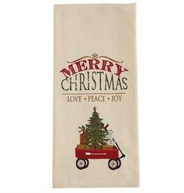 Park Designs Merry Christmas Wagon Dishtowel