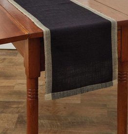 "Park Designs Parker Table Runner, 36"" Black"
