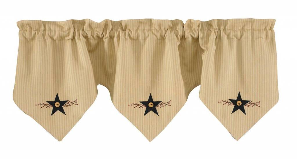 Park Designs Triple Point Valance, Star Vine