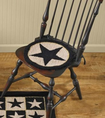 Park Designs BLACK STAR HOOKED Chairpad