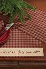Park Designs Placemat, Live Love Laugh