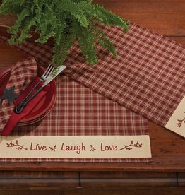 Park Designs Placemat, Live Love Laugh