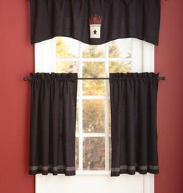 Park Designs Wave Valance, Berry Crock