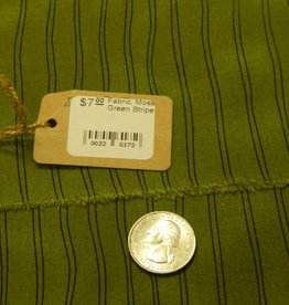 Fabric, Moss Green Stripe