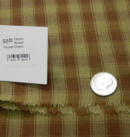 Dunroven House, Inc. Fabric, Brown House Check