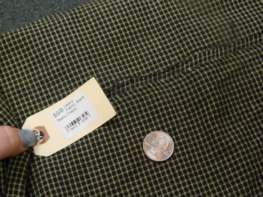 Heavy Fabric, Black Teeny Check