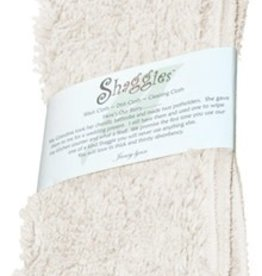 "Janey Lynn's Design, Inc. French Vanilla Shaggie, Set of 2  10""x 10"""