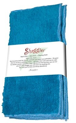 "Janey Lynn's Design, Inc. Blue Jewel Shaggie, Set of 2  10""x10"""